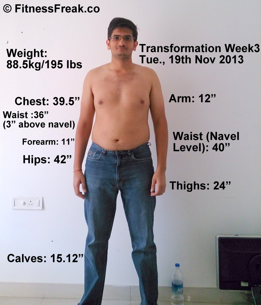This is me, Paawan. On 19th November 2013. My body part measurements and weight can be seen in the image.