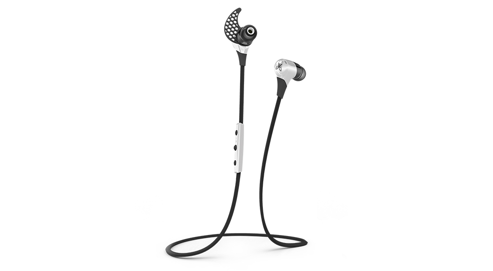 JayBird BlueBuds X - Premium Secure Fit Wireless Earbuds - Storm White