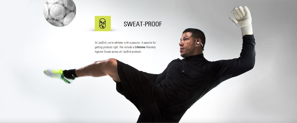 JayBird BlueBuds X - Sweat Proof - Lifetime Warranty against sweat