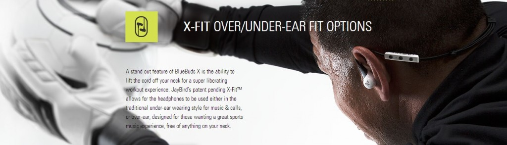 JayBird BlueBuds X - X-Fit Over-Ear and Under Ear Fit Options
