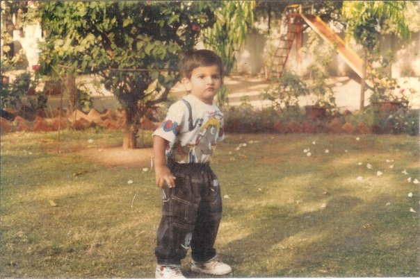 Paawan's Childhood Photo, about 2-3 years old