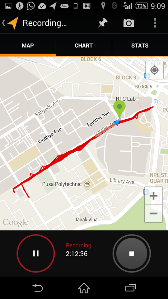 PUSA IARI Campus - Trail Running - Route Map