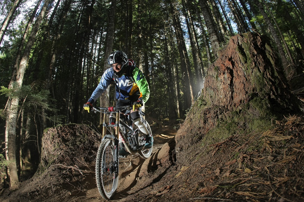 Downhill Biking in Whistler Mountain Bike Park on Devil's Jam - 8th September 2014