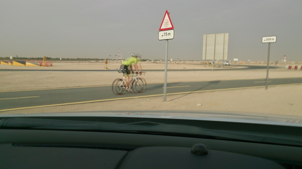 Glimpse of the Al Qudra Cycling Track Dubai